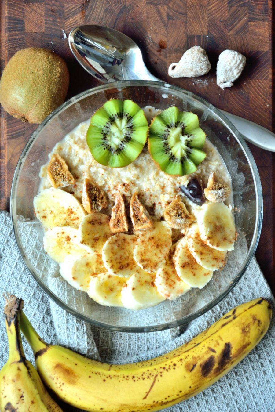 Opskrift på mættende vegansk morgengrød