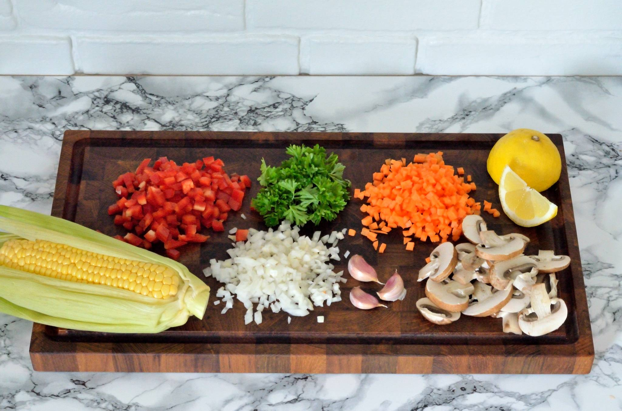 Ingredienserne til autentisk spansk grøntsagspaella