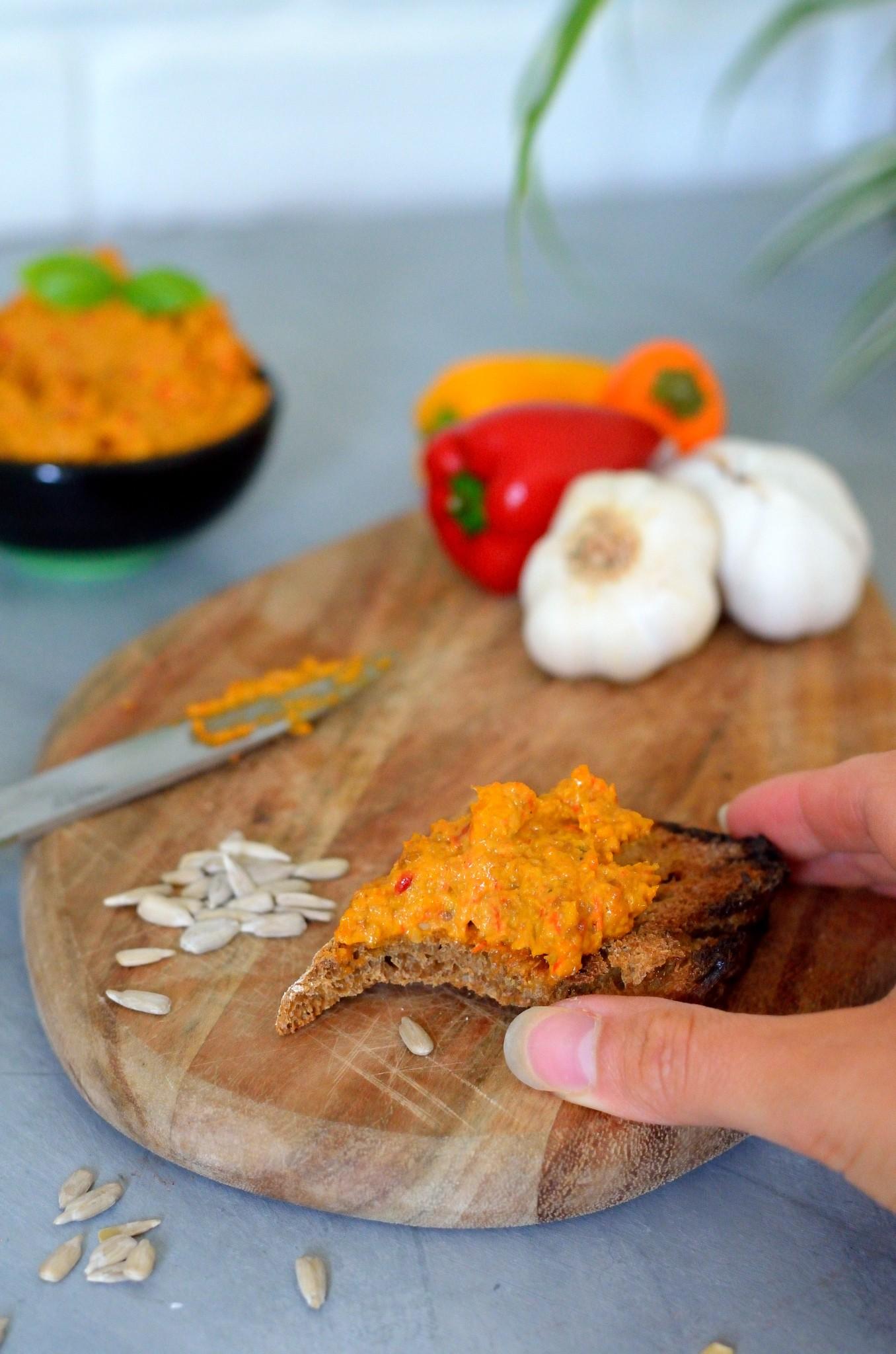 Opskrift på Peperonata - dip af ovnbagte peberfrugter