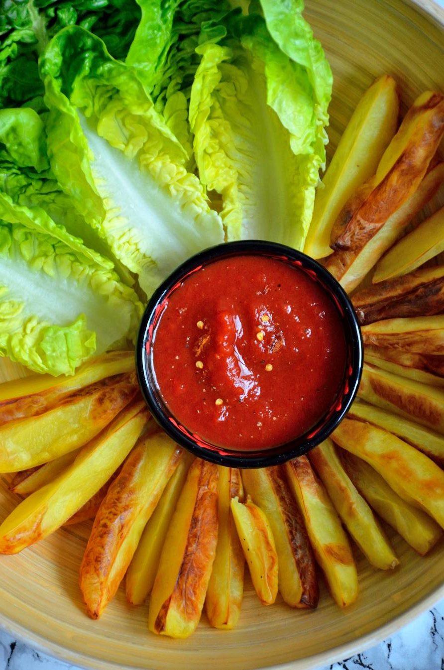 Sprøde oliefrie kartoffelbåde