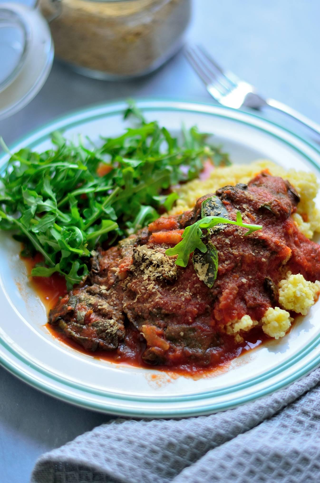 Grøntsags bolognese med spinat