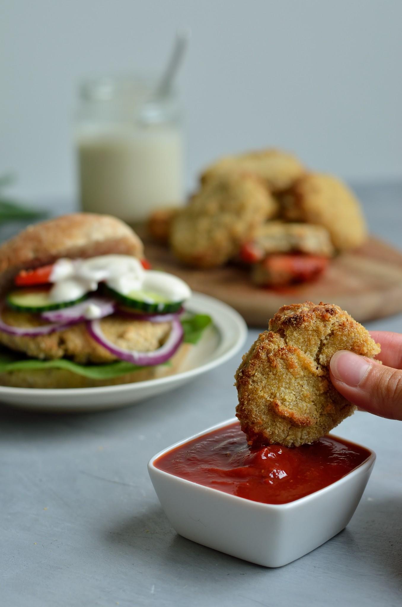NO Chicken Nuggets (vegansk, glutenfri og børnevenlig) opskrift