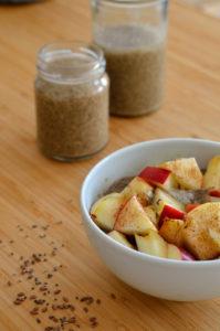 Vegansk morgenmad med omega-3